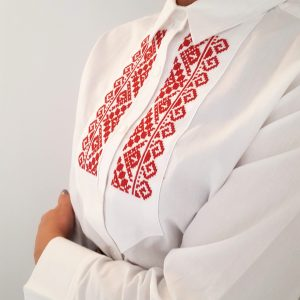 Camasa dama maneca lunga cu broderie traditionala retro