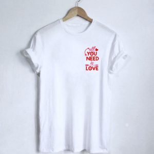 Tricou dama motiv brodat All you need is love